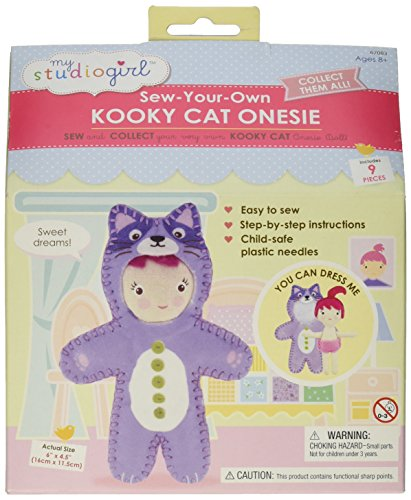 Mon studio Girl - Coudre-Your-Own Kooky Cat Onesie Doll - Jeux Universitaires