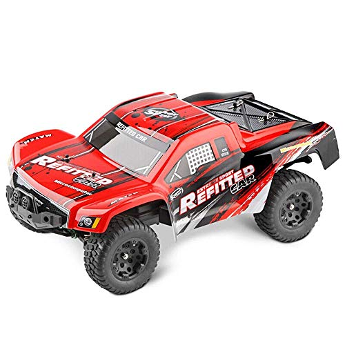 YIQIFEI Fast Off-Road RC Racing Car Eléctrico Offroad Control Remoto RTR Buggy Monster Truck 1: 4WD Escala 1/18 50 km/h Alta Velocidad (Coche RC)