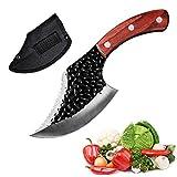 Cuchillo del cocinero cuchillos 5 CR15 - Mango de madera - Multi Propósito - 5 pulg de la lámina aguda portátil de cuchillas de carnicero de acero inoxidable de supervivencia al aire libre que acampa