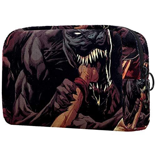 Trousse de maquillage de voyage double couche - Grand sac de rangement - Marvel Comics
