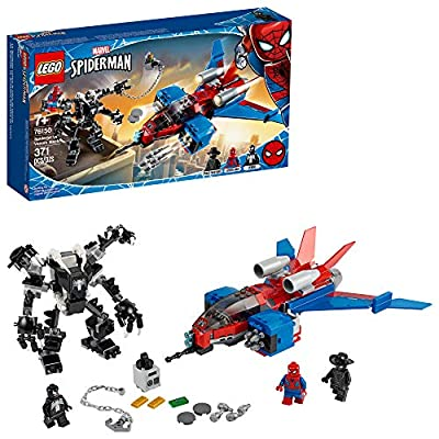 LEGO Marvel Spider-Man Spider-Jet vs Venom Mech 76150 Superhero Gift for Kids with Minifigures, Mech and Plane, New 2020 (371 Pieces) from LEGO