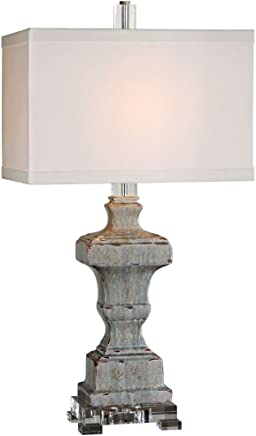 Uttermost 26484-1 San Marcello Glaze Lamp, Blue by Uttermost