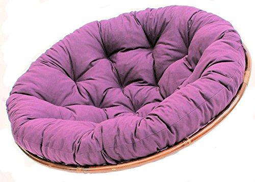 Rattani Polster für Papasansessel, Ersatzpolster Papasan D 120 cm, Stoff dunkel violett