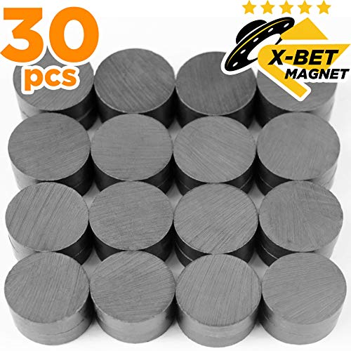 Craft Magnets  18 mm 709 inch Round Disc Ceramic Magnets  Flat Circle Magnets for Crafts Science amp DIY  Ferrite Small Magnets Perfect for Refrigerator Whiteboard Fridge  30 PCs