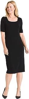Women's Travelers Classic Square-Neck Dress Black