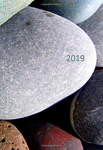 Mini Kalender 2019 - Steine - ca. DIN A6 - 1 Woche pro Seite