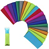 Creatrill 20 Pack Ice Pop Sleeves Popsicle Holders Bags, Neoprene Fabric, 10 Colors