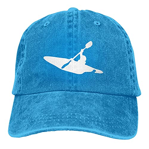 398 Kayak Clipart - Gorra de mezclilla ajustable, unisex, diseño de béisbol