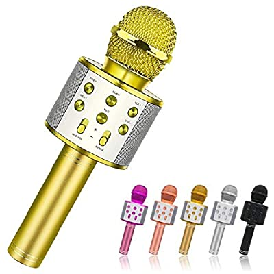Toys for 5 6 7 8 Year Old Girls Gifts,Wireless Bluetooth Karaoke Microphone for Kids,Fun Kids Birthday Gifts Age 4-12 Boys Girl