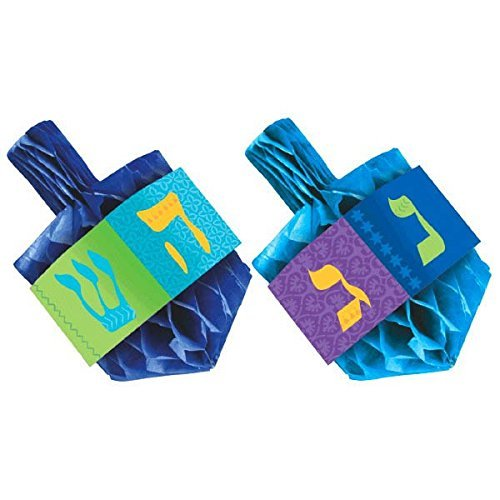 Hanukkah Honeycomb Paper Dreidel Centerpiece Set, 2 Ct. | Party Decoration
