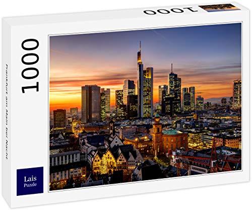 Lais Puzzle Frankfurt en el Meno de Noche 1000 Piezas