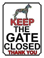 ゲートを閉じたままにする 金属板ブリキ看板警告サイン注意サイン表示パネル情報サイン金属安全サイン