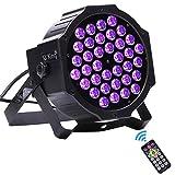 U`King Black Lights 2W x 36 LED UV Bar Blacklight by DMX IR Remote Control and Sound Activated Par Light for Party DJ Stage Lighting
