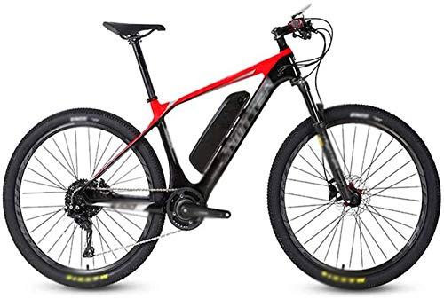 RDJM Bciclette Elettriche, in Fibra di Carbonio da 26 Pollici Bici elettriche, a Cristalli liquidi di Controllo Display Digitale Batteria al Litio della Bici di Montagna 36V13Ah Bicicletta Bicicletta