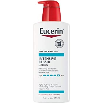 Eucerin Intensive Repair Lotion - Rich Lotion for Very Dry, Flaky Skin - Use After Washing With Hand Soap - 16.9 Fl. Oz.