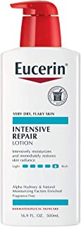 Eucerin Intensive Repair Lotion - Rich Lotion for Very Dry, Flaky Skin - 16.9 Fl Oz (Pack of 1) Pump Bottle