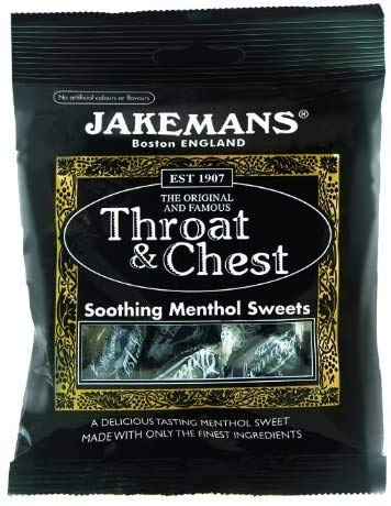 2 x Packs of JAKEMANS Throat and Soothing Menthol DIFFRENT Flavours Sweets 100g Packs (Throat and Chest)