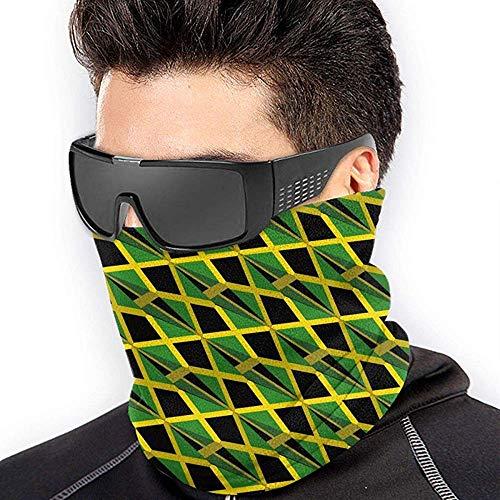 air kong Jamaica Flag 3D Art Pattern Scarf Neck Gaiter Magic Headband Balaclava Hood Unisex Mask Bandana Winter Warm Headwear