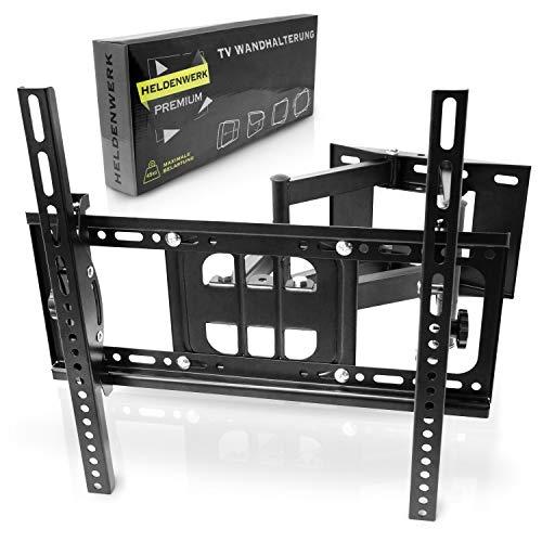 HELDENWERK ® TV Wandhalterung - Passt zu Ihrem Fernseher - Fernseher Wandhalterung - Wandhalter Fernseher - TV Halterung