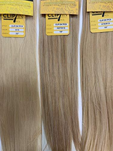 Remi Clip-In Hair Extensions 100% Human Hair 7 PCS by Black Diamond (22, H4/30)