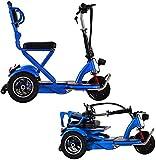 Silla de ruedas eléctrica Eléctrica de 3 ruedas Scooter, Drive Medical Spitfire explorador compacto portátil de la energía del recorrido Vespa for personas mayores adultas eléctrica plegable triciclo,