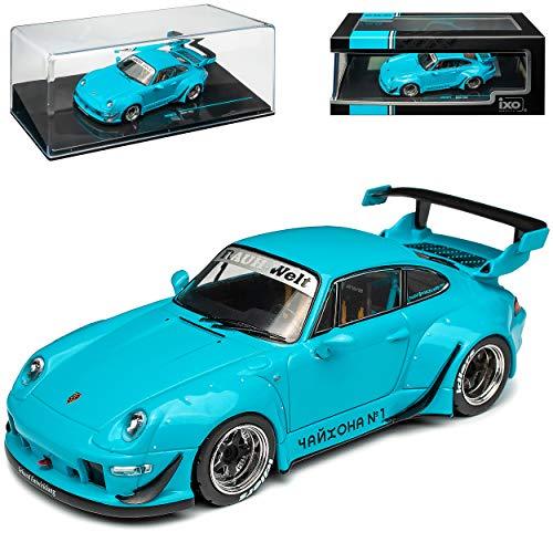 alles-meine.de GmbH Porsche 911 993 Coupe Blau RWB Rauh Welt 1993-1998 1/43 Ixo Modell Auto