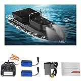 Yiyu Fischfinder Futterboot Baitboat, Für Angeln RC Boot Fishing Bait Boat 2,4 G,High Speed 500M Ferngesteuertes Boot,Hoch Wasserdicht Köderboot Mit Geräuschloser Doppelmotor x (Color : Black)