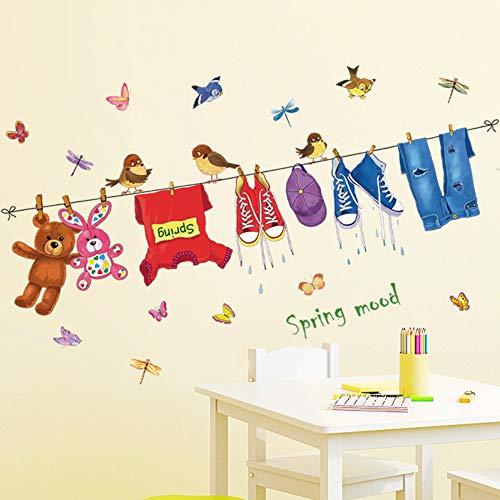 Pegatinas de pared perchero jardín de infantes aula dormitorio de dibujos animados sofá fondo pared decoración de la habitación de los niños