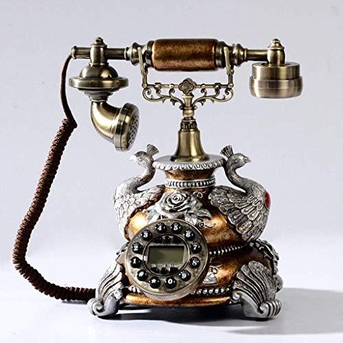 FHISD Teléfono Antiguo Teléfono con marcación Clásico con Cable Teléfonos fijos Antiguos Retro con teléfono clásico Función de Manos Libres y rellamada para decoración del hogar, teléfono con cabl