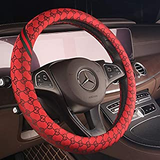 XiXiHao 2019 New Car Steering Wheel Cover Fashion Girl Women Wheel Covers for 2005 Ford Excursion Eddie Bauer 5.4L V8 Gas (Red)