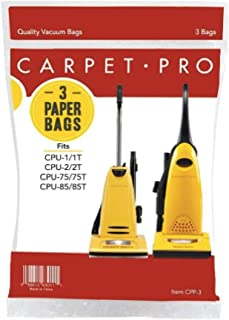 Genuine Carpet Pro Upright Bags - 3 Pack