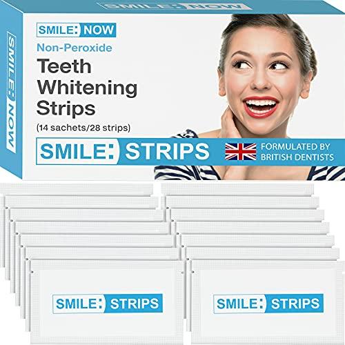 Zahnaufhellung – Zahnbleaching - bleaching strips - Null Peroxid – ohne Fluorid – Zähne aufhellen – Sicher für den Zahnschmelz! Für ein blendendes Lächeln - teeth whitening without charcoal or powder