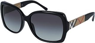 نظارات شمسية من بيربري باطار رمادي 135 ملم