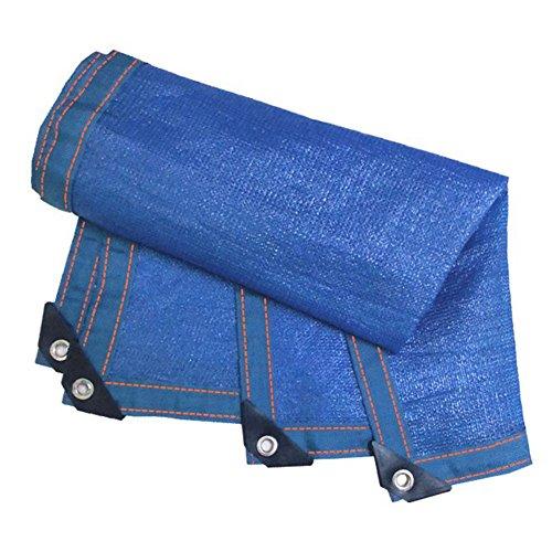 Zbm-Zbm Luifel met metalen knop, lichtgewicht, bescherming tegen uv-straling, privacy, blauw, voor tuinen zwembaden, etc., schaduwdoek, ophangen