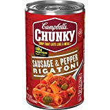 Campbell's Chunky Sausage and Pepper Rigatoni Soup, 18.8 Ounce (Pack of 12)