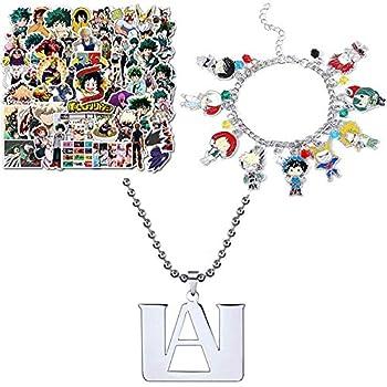 50 Pcs My Hero Academia Sticker My Hero Academia Pendant Necklace My Hero Academia Anime Manga Charm Bracelet Quality Cosplay Jewelry Series