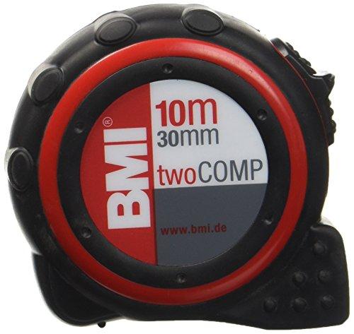 BMI 472041021 Taschenbandmaß Two Comp, Länge 10 m, weisslackiertes Band, mit Clip