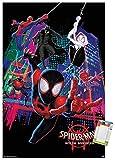 Trends International Marvel Comics Movie Man: Enter The Spider-Verse-Group Mount Póster de pared, 56,8 x 86,3 cm, paquete de póster y montaje