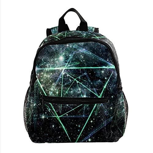 Mochila de nebulosa de cangrejo abstracto, ligera, para niños, mochila escolar, duradera, informal, para niñas y niños, 25,4 x 10 x 30 cm, 13, 25.4x10x30cm,
