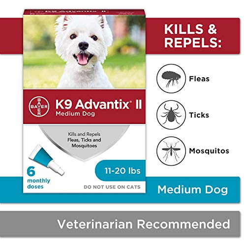 K9 Advantix II Flea And Tick Prevention for Dogs, Dog Flea And Tick Treatment for Medium Dogs 11-20...