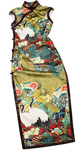Interact China Prima Seda Artesania Cheongsam Qipao Vestido Chino Adaptado de Novia #102