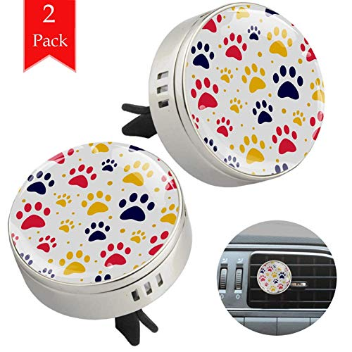 Cat Or Dog Paw Car Essential Oil Diffuser - With Air Vent Clip - Best for Aromatherapy - Fragrance Air Freshener, Scents Diffusers