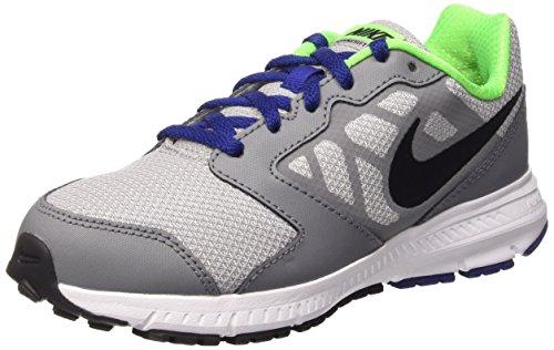 Nike Boys' Downshifter 6 (GS/PS) Running Shoe, Wolf Grey/Black/deep Royal Blue/White, 5 M US Big Kid