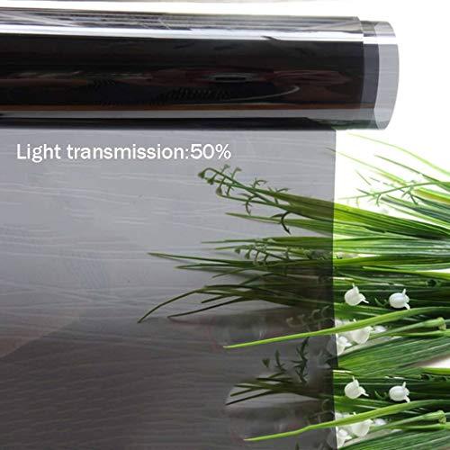 Bove Blickdicht Sichtschutzfolie, Kratzfest Hitzeschutz One Way Reflektierende Fensterfolie Selbsthaftend Einfache Entfernung Verdunklungsfolie Zum Zuhause Außen-A-30x100cm(12x39inch)