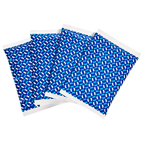 Amazon Basics Reusable Flexible Soft Sided Ice Pack 67quot X 43quot Blue Pack of 4