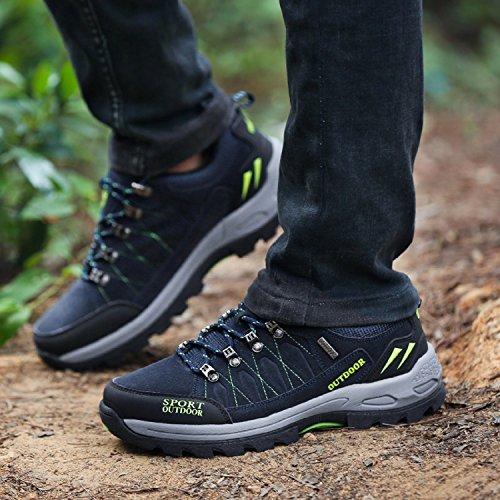 NEOKER Zapatos de Trekking y Senderismo para Hombre Mujer Deportes Exterior Boats Escalada Sneakers Azul 42