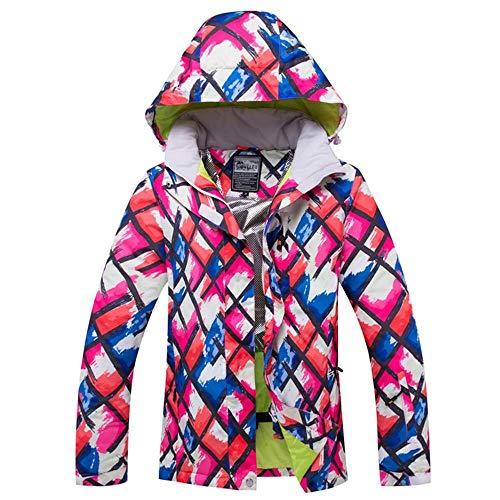 MIMIOOORE Frauen Skijacke Snowboard-Jacke super warme windundurchlässige wasserdichte Outdoor-verdicken Thermal Sport Wear Weibliche Wintermantel (Color : Pink, Size : L)