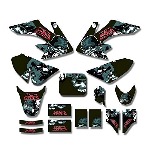 Fondos GRÁFICOS DE Las Etiquetas ENGOMADAS Kits for Honda CRF50 Estilo Pit Bici de la Suciedad (Negro) Motocross Pegatinas
