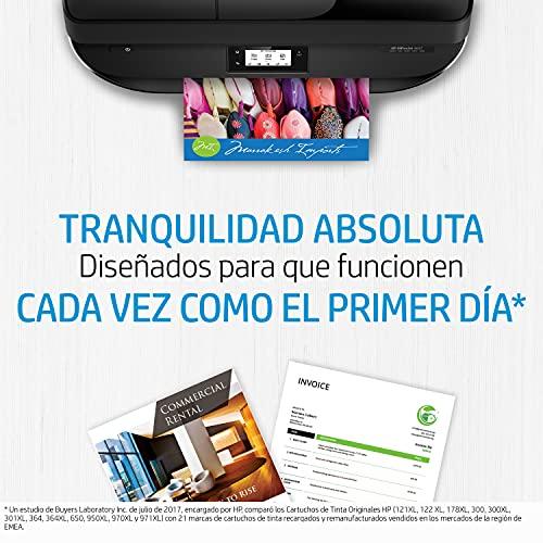 HP 305 6ZD17AE, Negro y Tricolor, Cartuchos de Tinta Originales, Pack de 2, compatible con impresoras de inyección de tinta HP Deskjet 2710, 2720, 2721, HP Deskjet Plus 4110, 4120, 4130 y HP Envy 6020