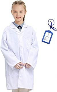 Marosoniy Lab Coat for Kids - Children's Lab Coat for Career Day Scientist Doctors Role Play Costume with ID Card